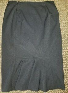 Ralph Lauren pencil black skirt,sz 2